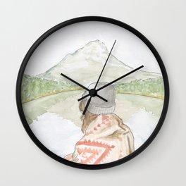 Mornings at the Lake Wall Clock