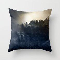 Magic Mountain Fog Throw Pillow