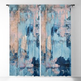 Sunbeam: a pretty abstract painting in pink, blue, and gold by Alyssa Hamilton Art Blackout Curtain
