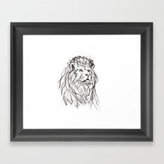 lion sketch Framed Art Print
