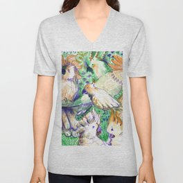 all cockatoos are perfect Unisex V-Neck