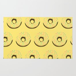 Yellow donuts Rug