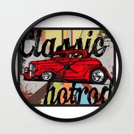 Classic Hotrods Wall Clock