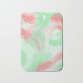 Coral Mint Abstract Bath Mat