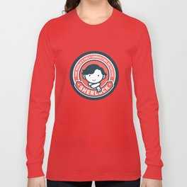 Sherlock - Cute Sherlock Holmes in Red Long Sleeve T-shirt