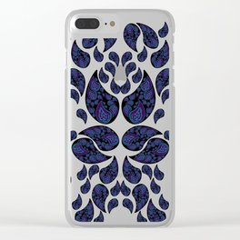 Paisley purple and teal Clear iPhone Case