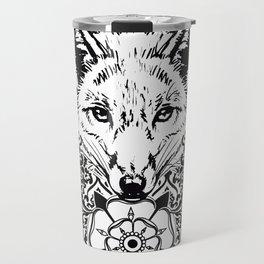 fox damask Travel Mug
