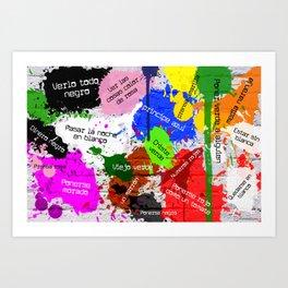 Sacándole los colores al español Art Print