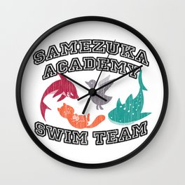 Samezuka Academy Swim Team Wall Clock