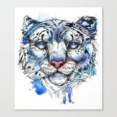 Icy Snow Leopard Canvas Print