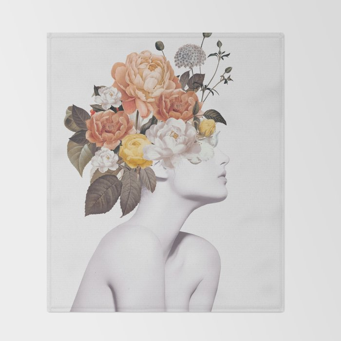 Floral beauty 7 Throw Blanket