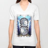 aquarius V-neck T-shirts featuring Aquarius by Caroline Vitelli GOODIES