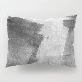 Black and Grey Concrete Texture Urban Minimalist Pillow Sham