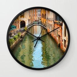 Italy Photography - The Beautiful Venice Canal Wall Clock