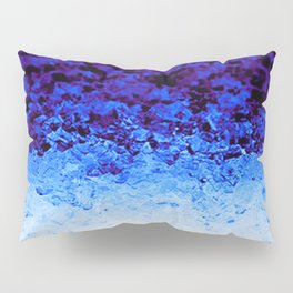 Indigo Blue Ombre Crystals Pillow Sham