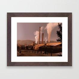 Sawmill Framed Art Print