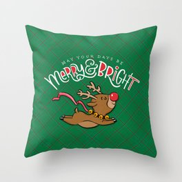 May Your Days be Merry & Bright Throw Pillow