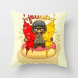 Fat Kids Throw Pillow
