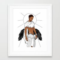apollo Framed Art Prints featuring Apollo by Cassandra Jean
