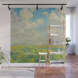 Granville Redmond Spring Antelope Valley Beautiful Landscape Painting Blue Sky Green Flower Filled F Wall Mural
