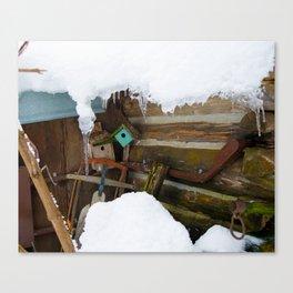 Winter Rustic Charm Canvas Print