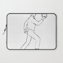 Retro Waiter Running Serving Coffee Drawing Laptop Sleeve