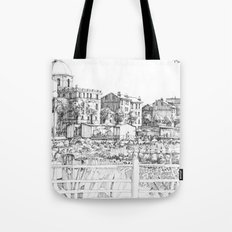 Spiagge a Pegli B&W Tote Bag