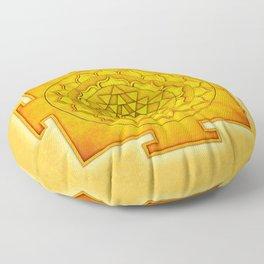 Golden Sri Yantra III Floor Pillow