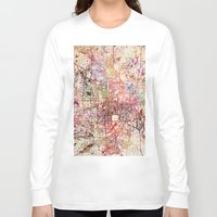 minneapolis Long Sleeve T-shirts featuring Minneapolis by MapMapMaps.Watercolors