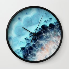 Ocean Agate Wall Clock