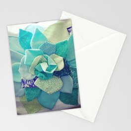 Succulent in Textile Stationery Cards