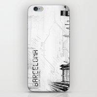 barcelona iPhone & iPod Skins featuring Barcelona by Yan-k
