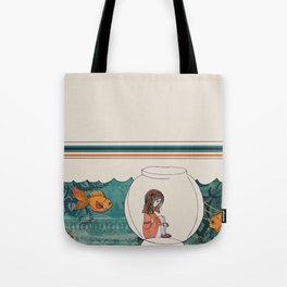 girl in a fishbowl Tote Bag
