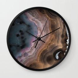 Multi colored agate slice Wall Clock