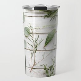 Green Botanical Flowers Travel Mug