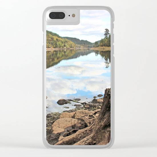 The world revolves Clear iPhone Case