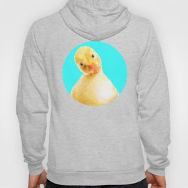 Duckling Portrait Turquoise Background Hoody