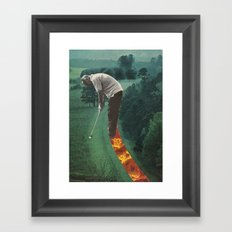 on the green Framed Art Print