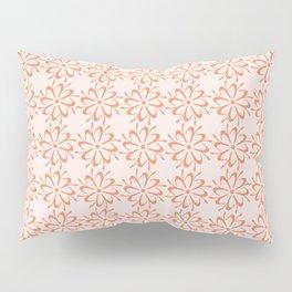 Floral Script Small Letter I Pattern Pillow Sham