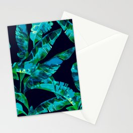 Tropical addiction - midnight grunge Stationery Cards