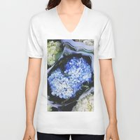 peonies V-neck T-shirts featuring Peonies by Alden Terry