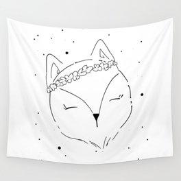 Fox Blossom illustration Wall Tapestry