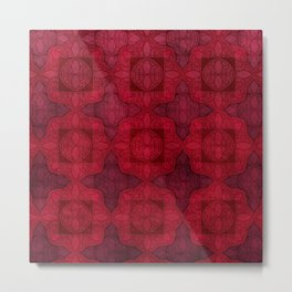Luxurious Maroon Metal Print