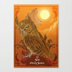 Solar owls -sun  Canvas Print