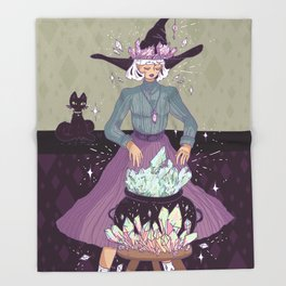 Crystal Witch Throw Blanket