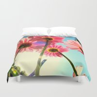 mandie manzano Duvet Covers featuring dancing in the sun by RichCaspian