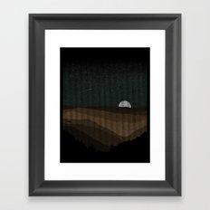 Moonrise (Sepia) Framed Art Print