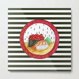 Sushi and stripes Metal Print
