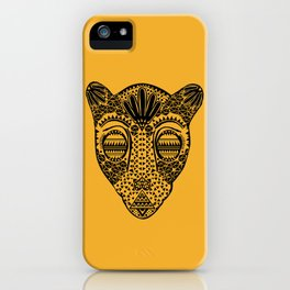 Black and Gold Jaguars Head iPhone Case