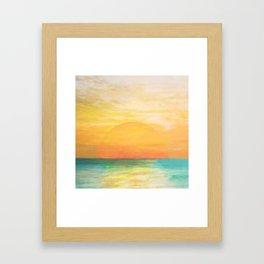 Summer Sunset Framed Art Print